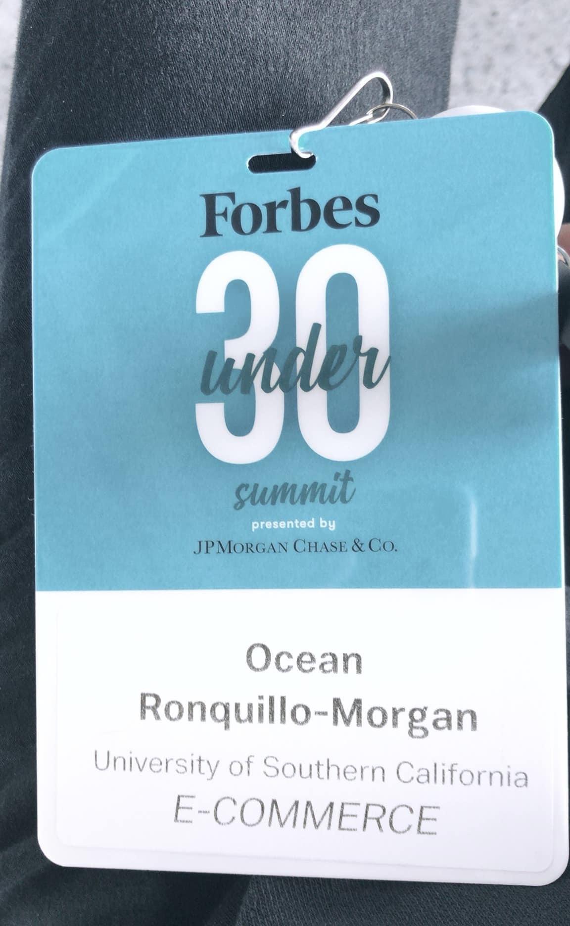 Ocean Morgan - Forbes Under 30 Scholar